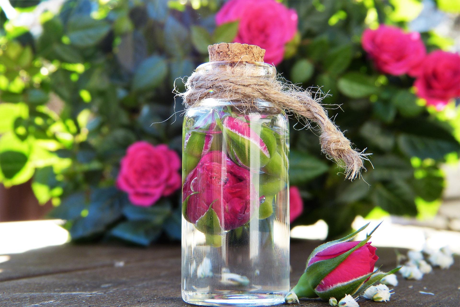 Natürliches Rosengesichtswasser kann man auch selber machen. Foto: Silvia Rita