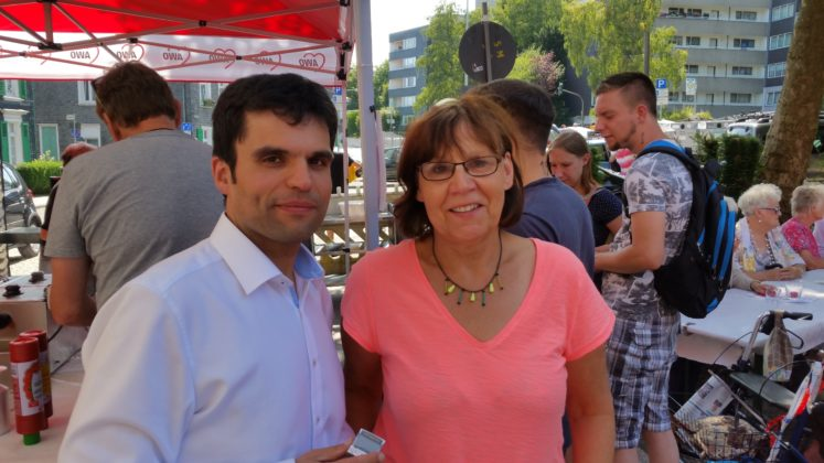 Ulla Wilberg und Antonio Scarpino freuten sich über den großen Zuspruch zum Sommerfest. Foto: von Gerishem