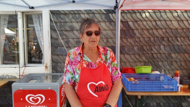 Ursula Plaum blieb auch in der größten Hitze cool. Foto: von Gerishem