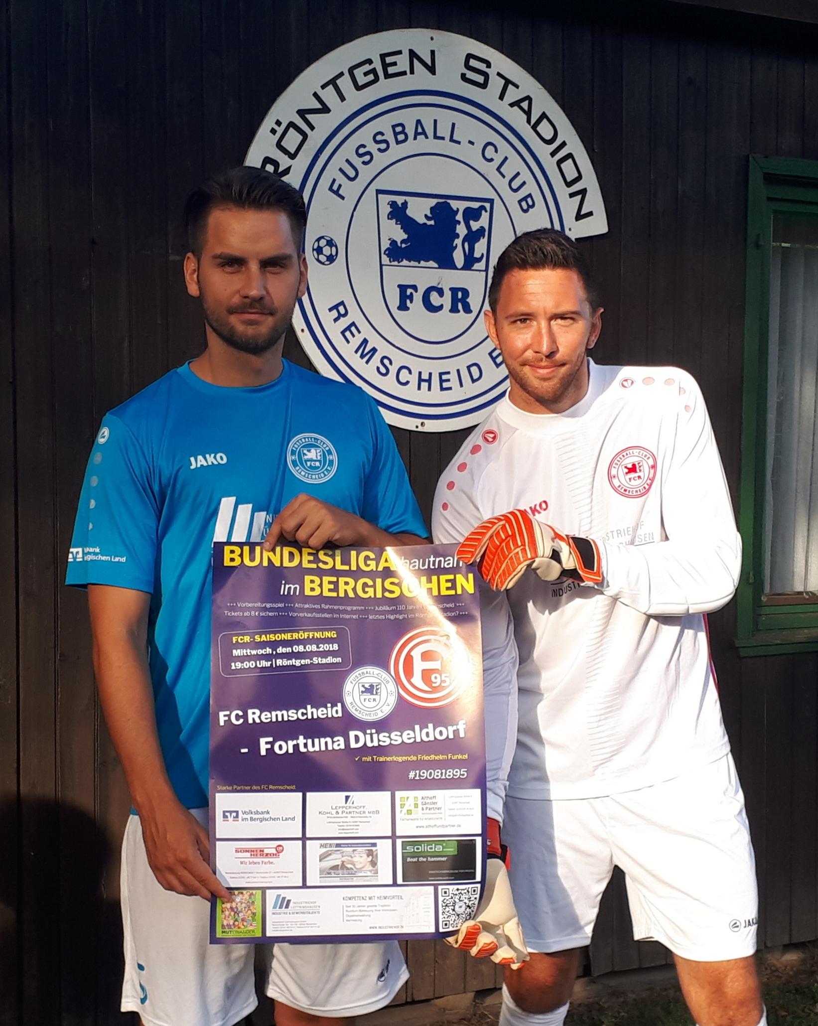 Kapitän Adis Babic und Torhüter Nico Tauschel freuen sich auf Fortuna Düsseldorf. Foto: privat