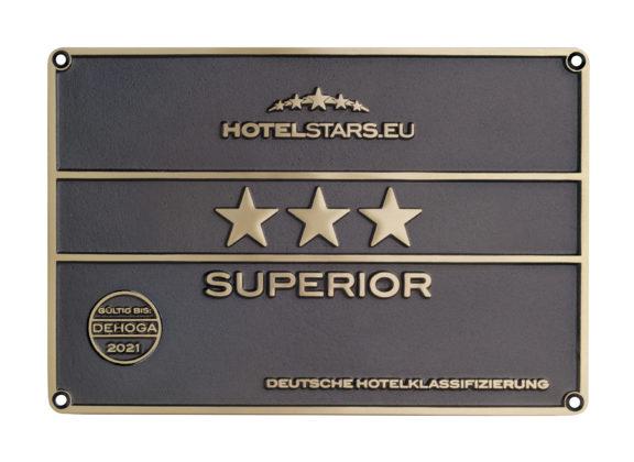 """Weiterhin """"drei Sterne Superior"""" für das Hotel Kromberg aus Lüttringhausen. Foto: Hotel Kromberg"""
