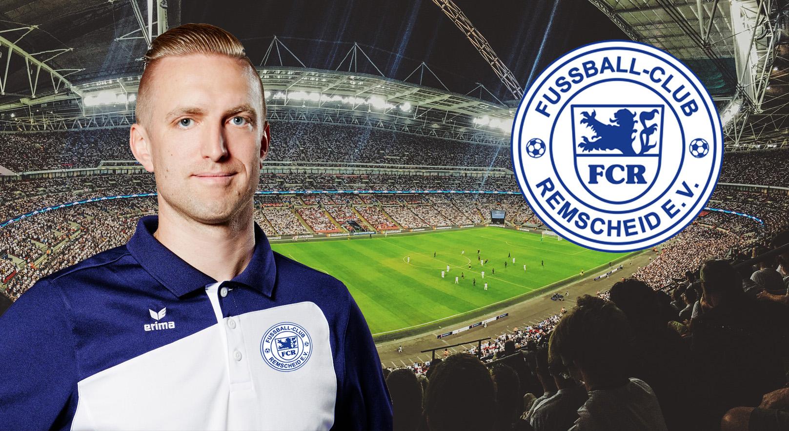 Ab 1. Juli 2019 neuer Cheftrainer beim FC Remscheid: Marcel Heinemann. Collage: SvG