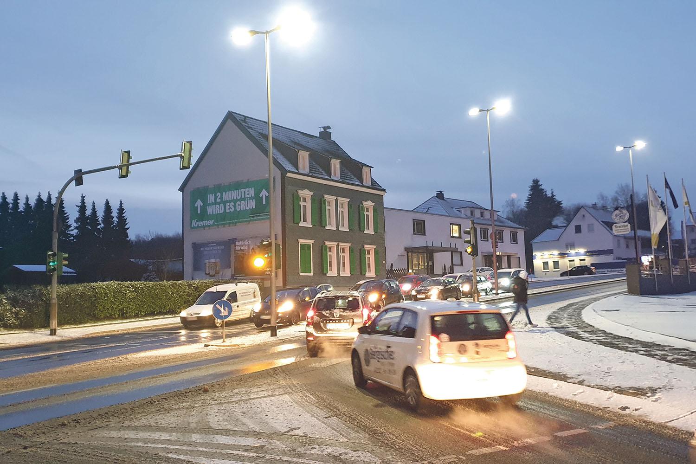 Die Kreuzung Lüttringhauser Straße / Ecke Richthofenstraße. | Foto: Sascha von Gerishem