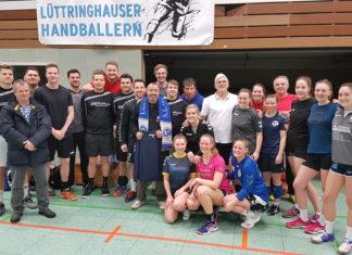 Die Handball-Familie des LTV verabschiedete ihren Elmi. Foto: LTV-Handball