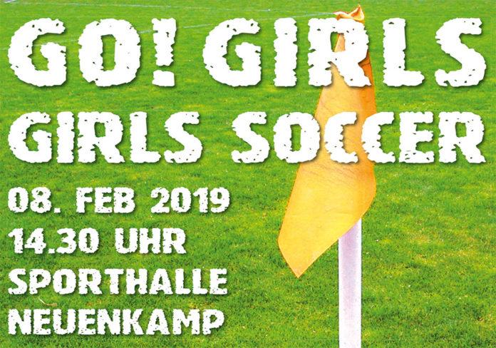 Mädchen-Fußballturnier: Girls-Soccer am 8. Februar 2019 in der Sporthalle Neuenkamp.
