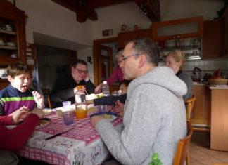 Die Ragazzi der Familie Kammin besuchten Familie Belfi in den Dolomiten. Foto: Familie Kammin