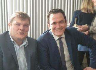 CDU-Landtagsabgeordneter Jens Nettekoven mit Lenneps Bezirksbürgermeister Markus Kötter. | Foto: Sascha von Gerishem