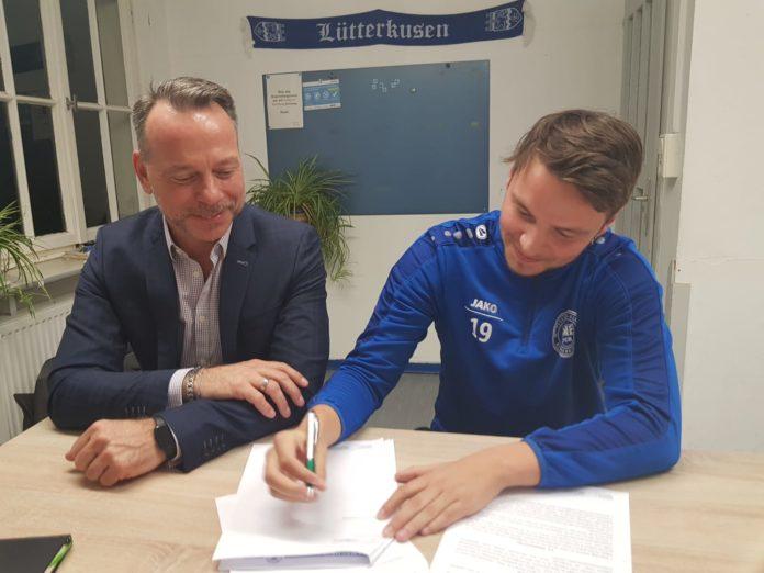 FCR-Vorsitzender Lars Althoff und Nico Langels. Foto: offiziell
