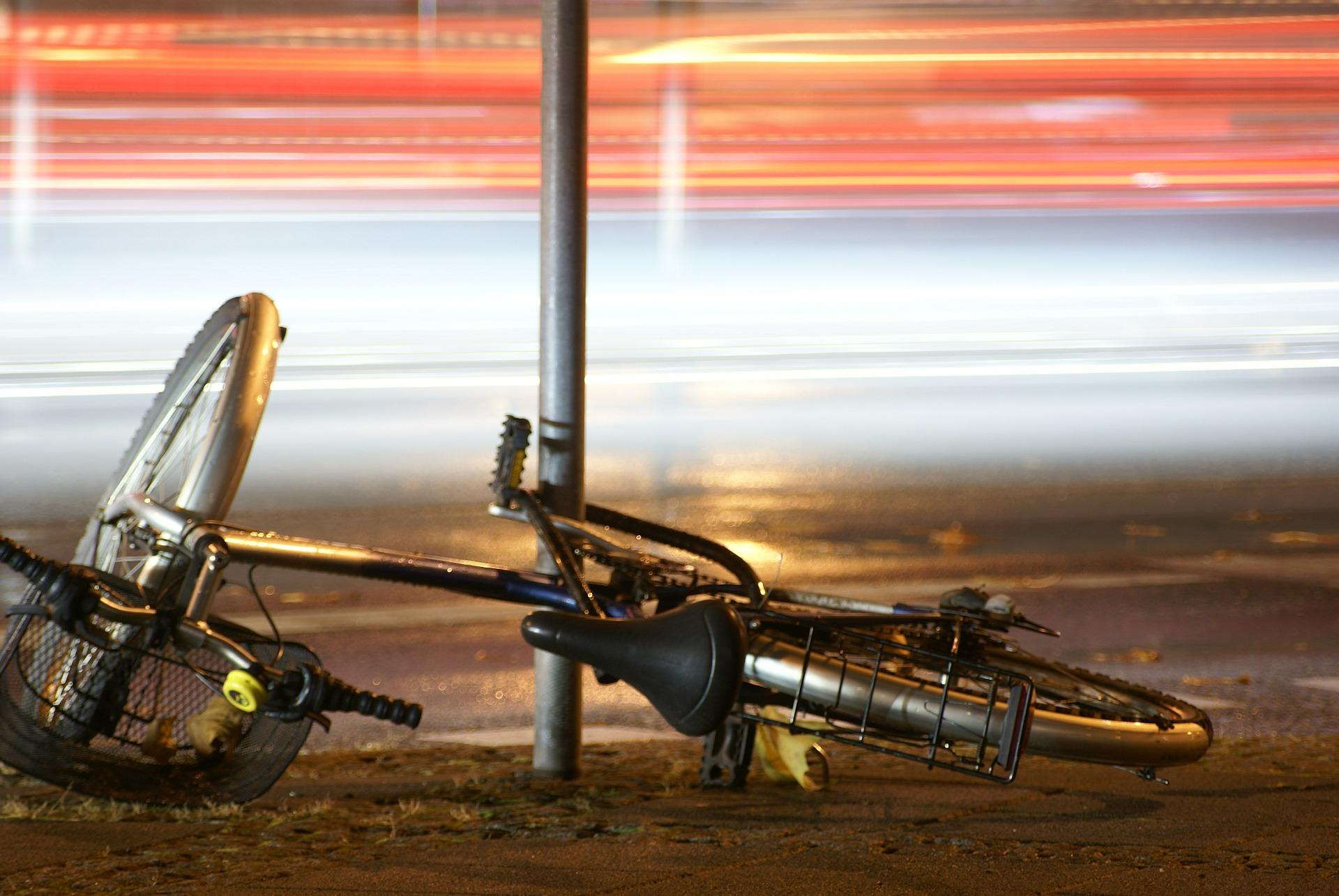 Unfall mit Fahrrad. Symbolfoto.