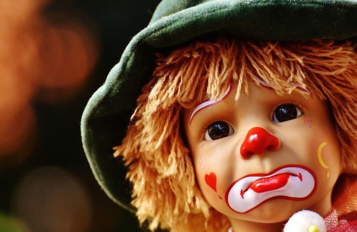 Trauriger Clown. Symbolfoto.