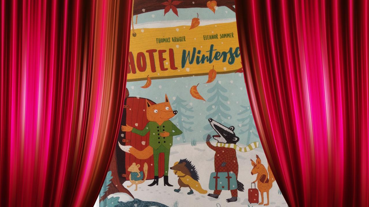 """Das Buch """"Hotel Winterschlaf"""" von Thomas Krüger und Eleanor Sommer wird im Bilderbuchkino der Stadtteilbibliothek Lennep vorgestellt."""