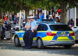 Eine Streife der Polizei. Symbolfoto.
