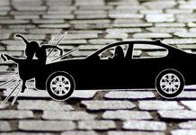 Unfall zwischen Fußgänger und Auto. Symbolbild.