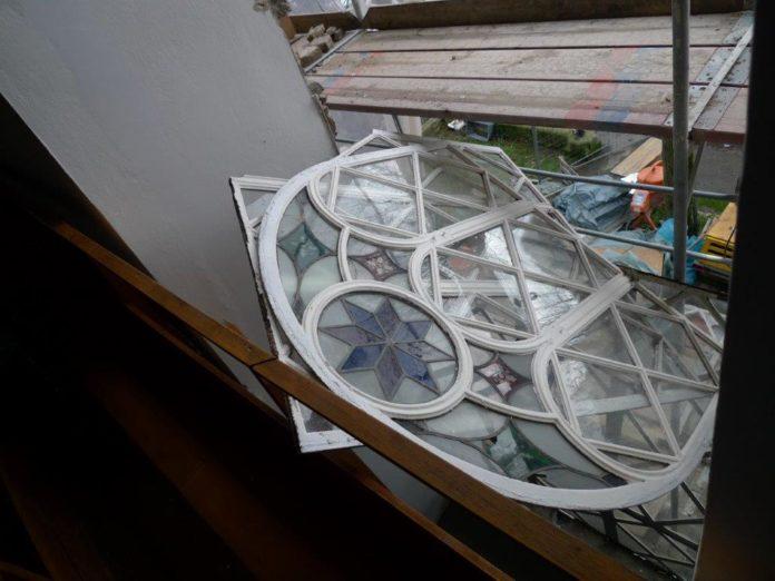Sturmschaden von Sturm Bennet an der evangelischen Stadtkirche Lüttringhausen. | Foto: Jürgen Kammin