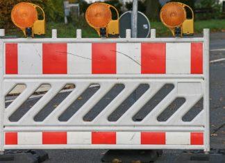 Straßensperrung. Symbolfoto.