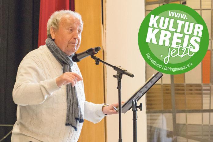 Horst Kalckert während der GertenBUCHstraße auf der CVJM-Bühne. | Foto: Juudo Fotografie – www.juudo-fotografie.de