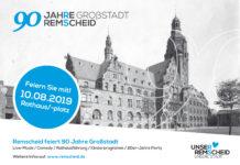 Bürgerfest zum 90. Jubiläum von Remscheid als Großstadt. Poster: Stadt Remscheid
