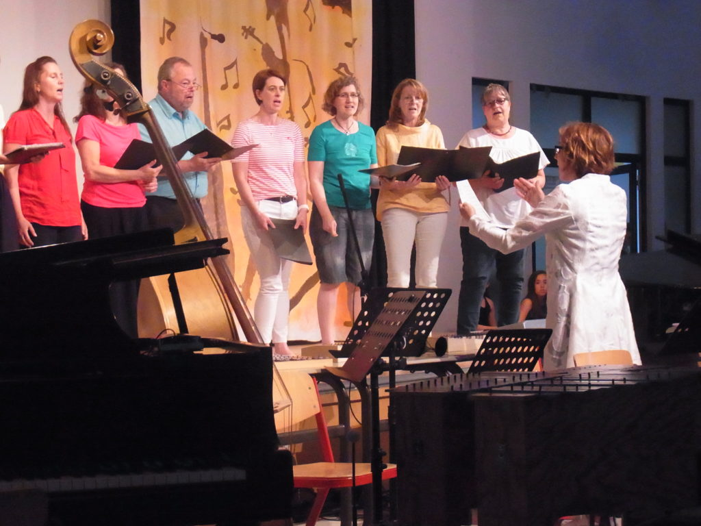 Die Gospel AG unter Leitung von Christoph Spengler. Foto: Peter Klohs