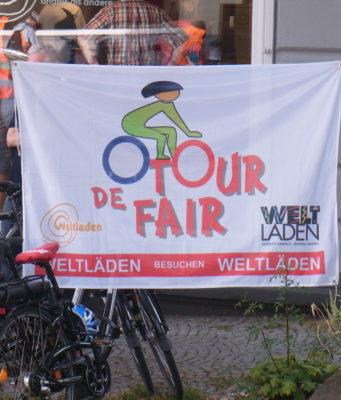 Das Motto der Tour de Fair. Foto: Peter Klohs