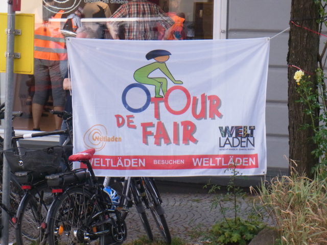 Das Motto der Tour de Fair. Foto: Peter Klohs