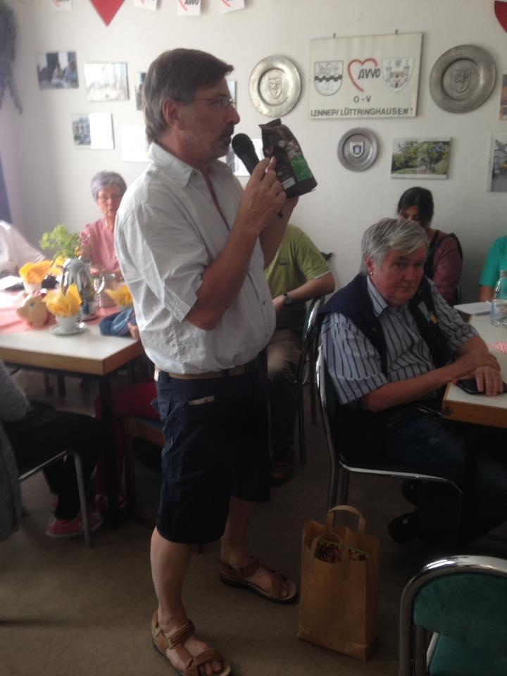 Volker Beckmann beim Solidaritätscafé der AWO 2017. Foto: AWO Lennep-Lüttringhausen