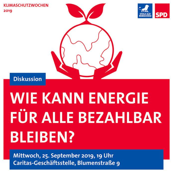 Wie kann Energie für alle bezahlbar sein? Artwork: SPD Remscheid