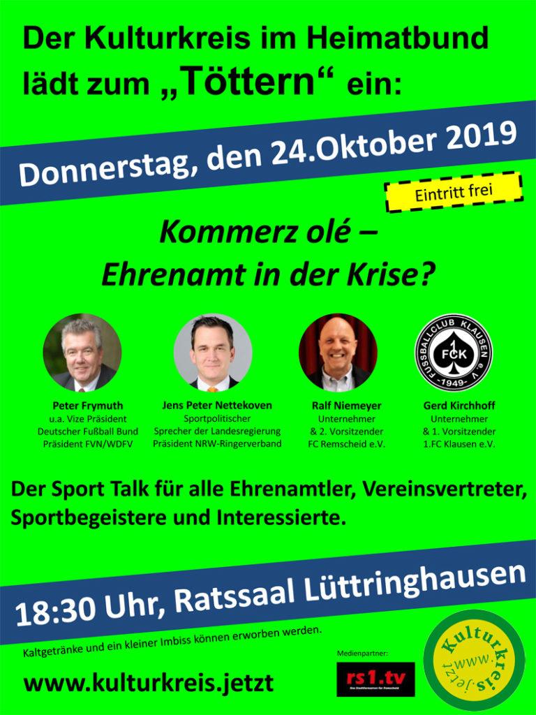 Töttern am 24. Oktober 2019 im Rathaus Lüttringhausen.