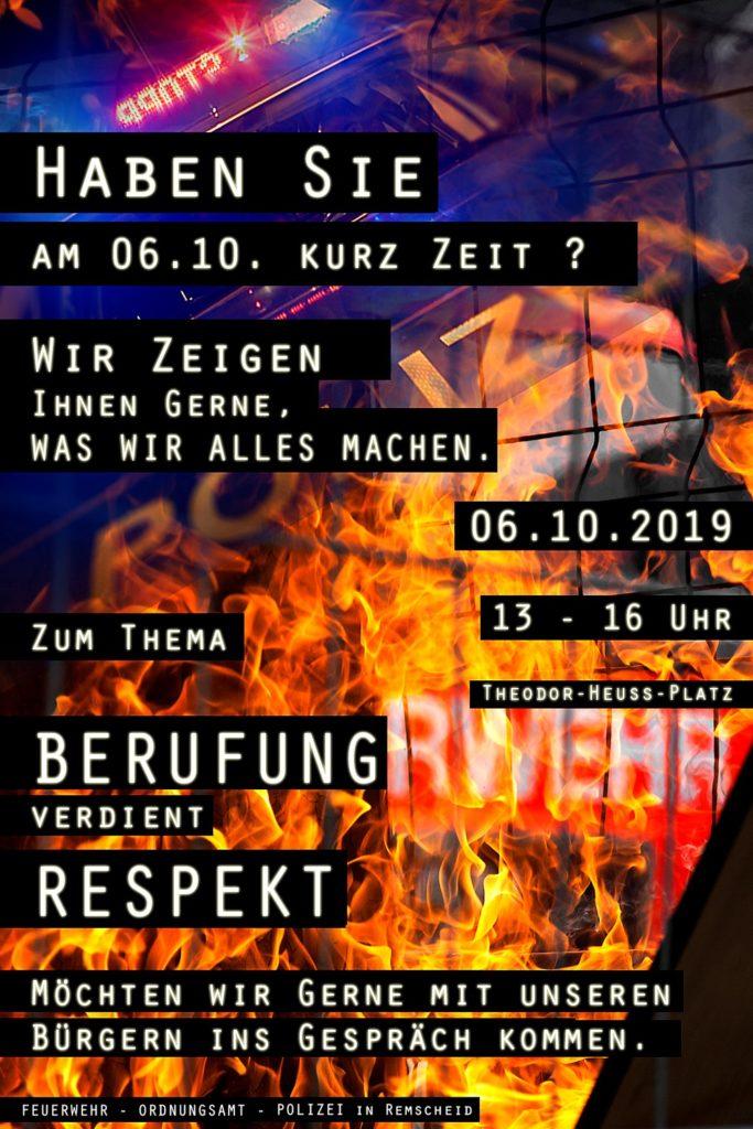 """Plakat """"Berufung verdient Respekt"""". Quelle: Polizei Remscheid"""