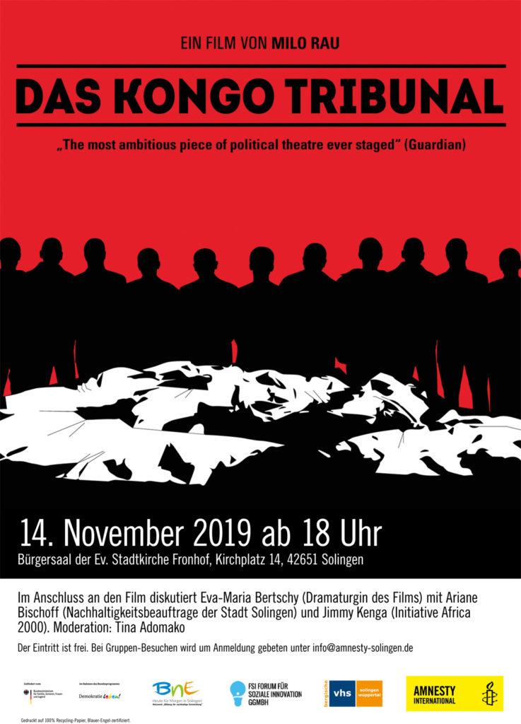 Das Kongo Tribunal. Plakat: offiziell