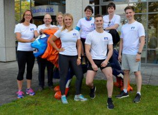 Gut in Form für Remscheids größtes Laufereignis: Die Volksbank-Läufer freuen sich auf den Röntgenlauf. Foto: Volksbank