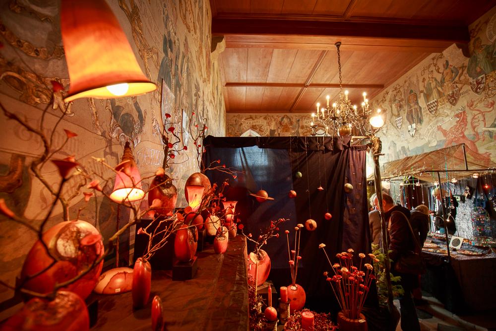 Basar der Kunsthandwerker in Schloss Burg in Solingen. Foto: Schloss Burg
