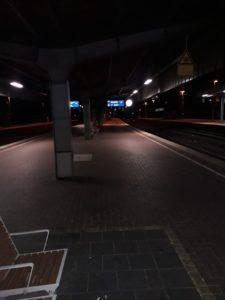 Wieder da: Dortmund Hauptbahnhof, Freitag Morgen, kurz vor 2 Uhr. Foto: Peter Klohs