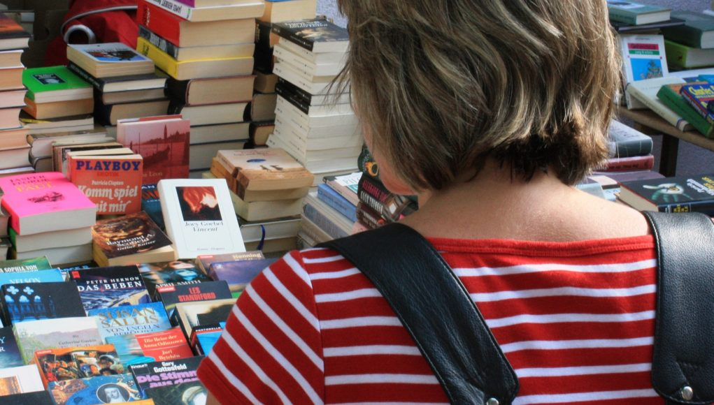 Markt mit Gebrauchtbüchern. Symbolfoto.