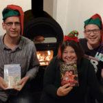 Die Remscheider Kinderbuchautoren Sascha Bruns, Steph Hoffmann und Sascha von Gerishem lesen aus ihren Werken. Foto: Nicole Dahmen