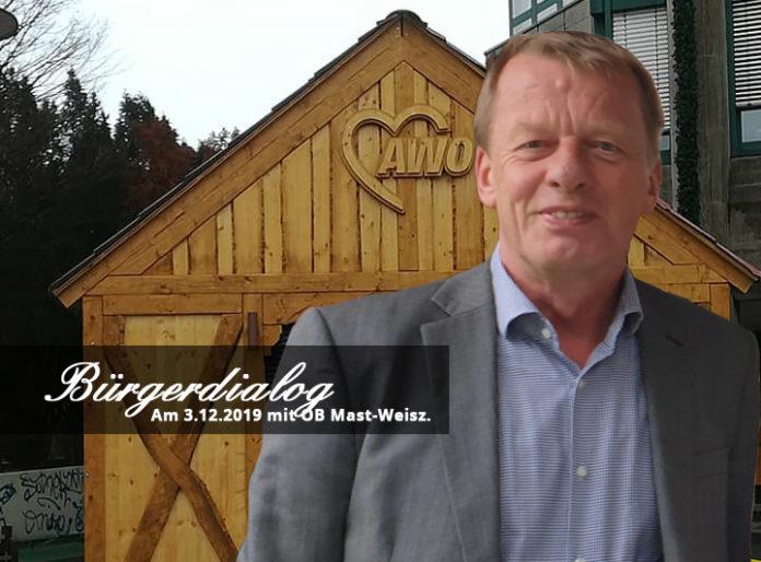 Bürgerdialog mit Oberbürgermeister Burkhard Mast-Weisz am 3. Dezember 2019 in Remscheid. Collage: SvG