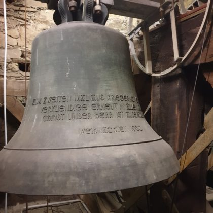 Die kleinste Glocke, zu ihr gehört das mittlere Seil. Foto: Sascha von Gerishem