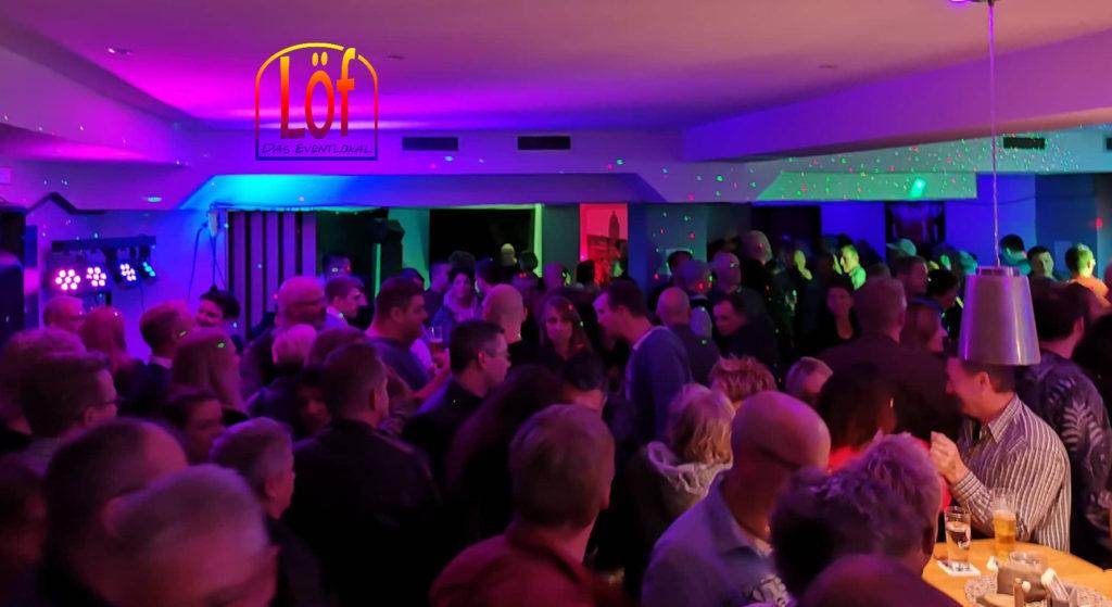 Im Löf Eventlokal sindy Partys noch Partys. Foto: Maximilian Süss