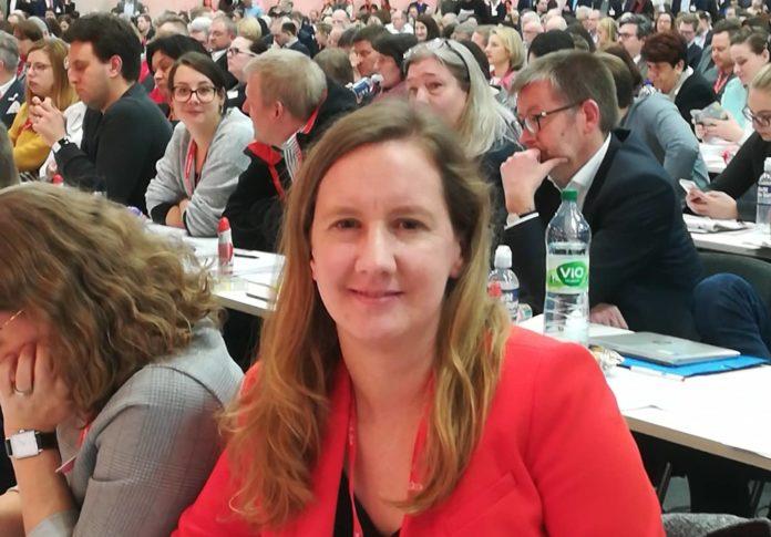 Dr. Stefanie Bluth von der SPD-Remscheid ist als Delegierte beim Bundesparteitag der SPD. Foto: Antonio Scarpino