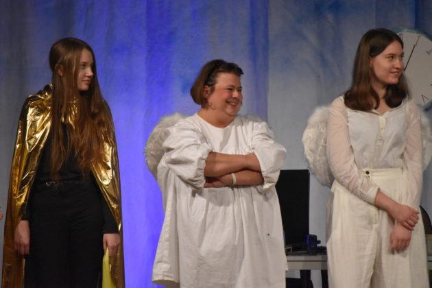 Lucy Schumacher, Steph Hoffmann und Livia Strauch. Foto: Peter Klohs