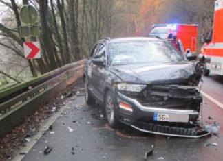 Verkehrsunfall Schöllerhof Richtung Luchtenberg. Foto: Polizei