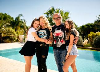 """Davina, Carmen, Robert und Shania Geiss: """"Die Geissens - Eine schrecklich glamouröse Familie"""". Foto: obs/RTLZWEI/PER FLORIAN APPELGREN"""