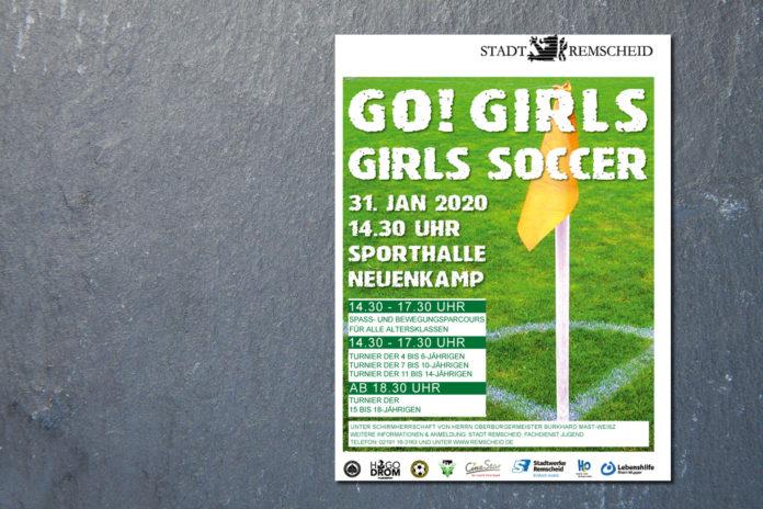 Mädchen-Fußballturnier: Girls-Soccer am 31. Januar 2020 in der Sporthalle Neuenkamp.