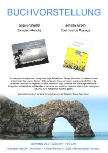 Das offizielle Poster für die Buchvorstellung in Lennep. Artwork: Grünwald und Green