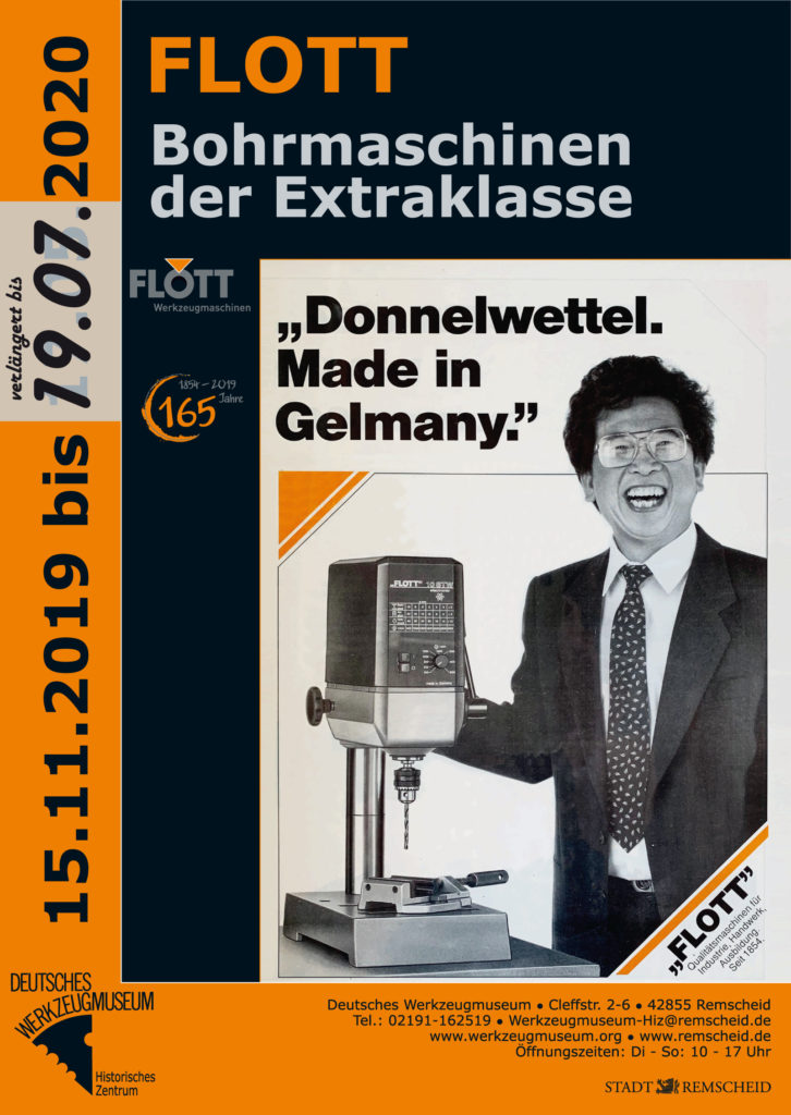 Das Poster zur Ausstellung. Poster: Deutsches Werkzeugmuseum