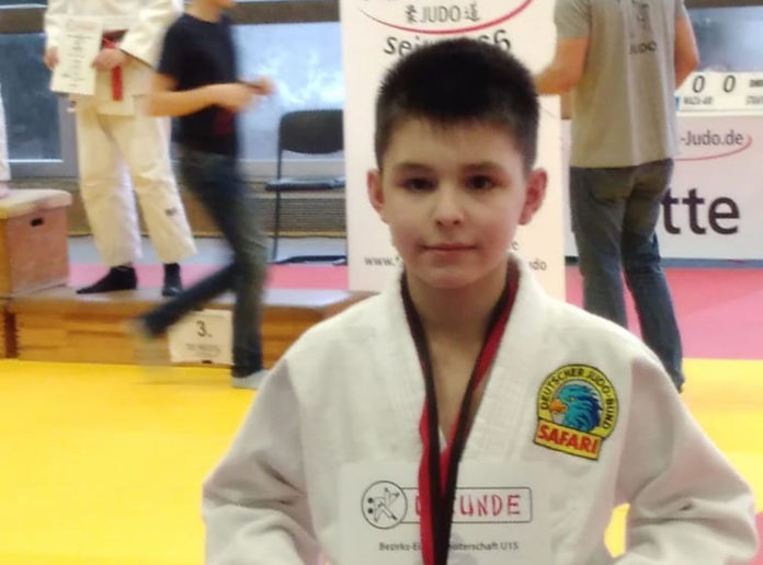 Fabio Venditti holte bei der Judo-Bezirksmeisterschaft in Neuss Bronze. Foto: LTG