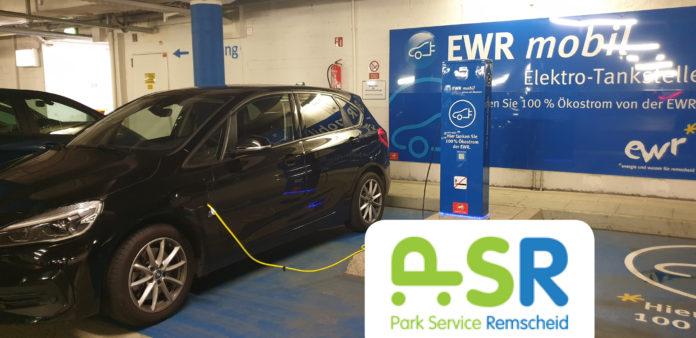 Park Service Remscheid: Im PSR Parkhaus am Rathaus kann man sein E-Auto mit Ökostrom der EWR aufladen. Foto: Sascha von Gerishem