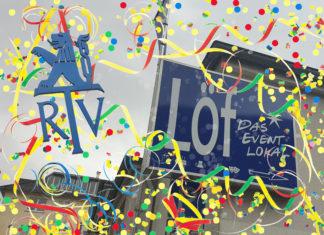 Die Altweiber-Party zieht vom Löf nach nebenan in die RTV Sporthalle. Grafik: SvG