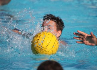 Wasserball. Symbolfoto.