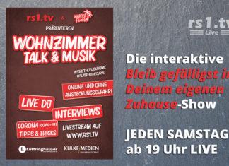 """Wohnzimmer Talk & Musik - Die interaktive """"Bleib gefälligst in Deinem eigenen Zuhause""""-Liveshow."""