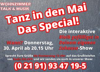 Das Tanz in den Mai-Special von Wohnzimmer Talk & Musik.